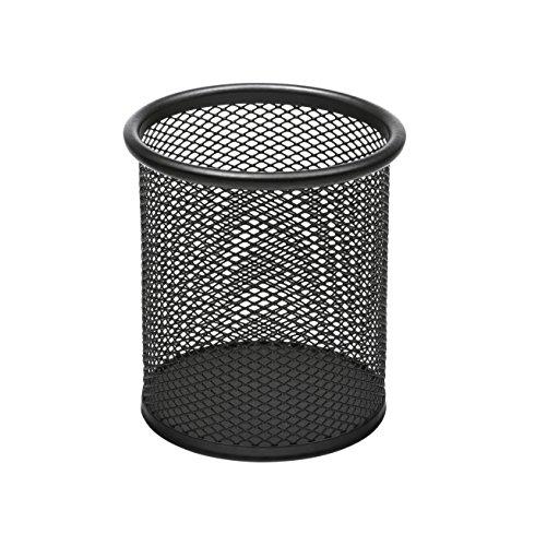 Osco PP1-BLK - Portalápices de malla metálica, color negro