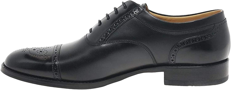 Loake Woodstock Black Calf & Polished Leather Mens Oxford Shoes 11.5 Black