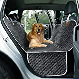 Preferred Material: The dog car seat cover is made of high-quality Oxford fabric to resist water penetration, and the non-slip backing of the seat cover base prevents the dog from falling over. Effective Protection: The pet car seat cover equipped wi...