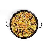 PaellaWorld | Padella per paella a induzione, 46 cm, in acciaio al carbonio, con...