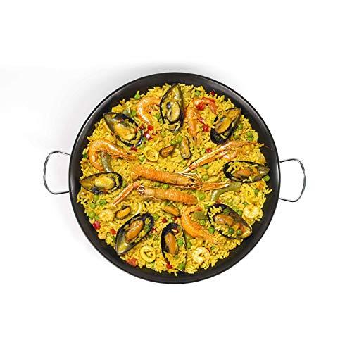 Paellapfanne 36 cm Bratpfanne Paella Pfanne (Servierpfanne, Carbonstahl, Antihaftbeschichtung)