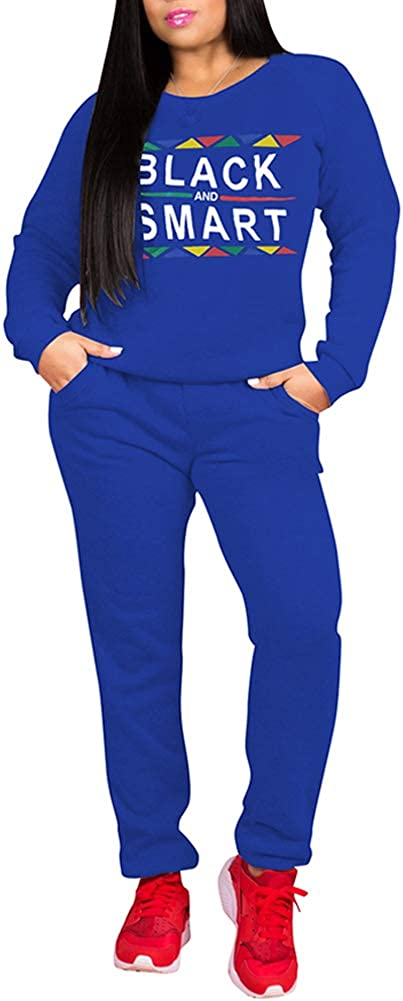 LoVnely Women's Casual 2 Piece Outfits Letter Print Long Sleeve Pullover Sweatshirt Skinny Long Pants Tracksuit Set