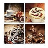 Póster e impresiones de lienzo de café cálido de arte moderno, adorno para el hogar, barras de cocina, decoración de café, 50x50cm sin marco