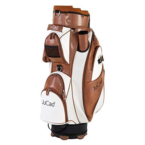 JuCad Golf Cart Bag Style (Lederoptik) Farbe: braun-weiß