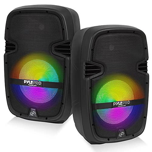 PA Speaker DJ Mixer Bundle - Portable Wireless Bluetooth Sound System w/ USB SD XLR...