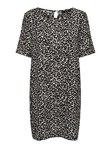 ONLY Damen Kleid Loose Fit 38Pumice Stone
