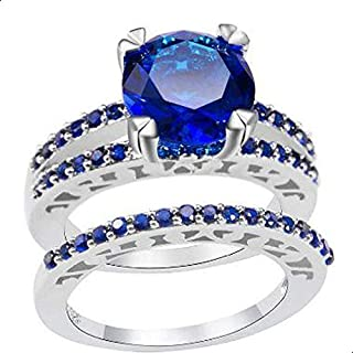 Women's Ring Silver and Blue size 8