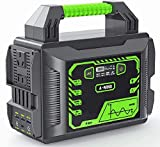 [ Multiple Output Charging Options ] A-Mind portable power station has AC/ DC/ USB OUTPUTS: 110 AC output (300W), 2 DC outputs, 1 QC 3.0 quick charge USB port, 1 typeC port and 2 USB 2.0 ports. It can power your smartphone, tablet, laptop, camera, li...