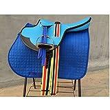 TNNT Sillín de caballo conjunto completo de silla de montar de montar de caballo de Western Sillín de Carreras Ecuestre Suministros Multifuncional de Sillín de Caballo Equipo de