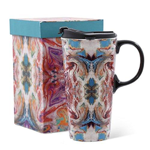 microwavable ceramic mug with lid - 6