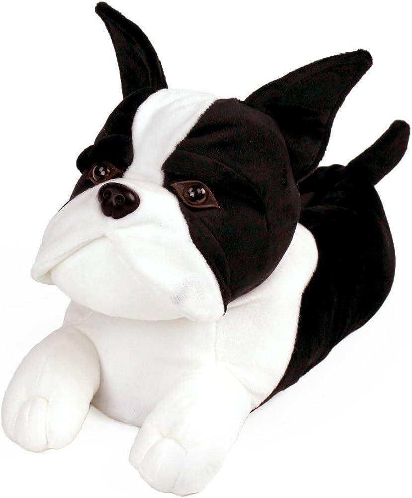 Boston Terrier Slippers - Plush Dog Animal Slippers