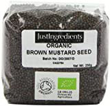 JustIngredients Essential Graines de moutarde noire biologique (Organic Black/Brown Mustard Seeds) 250g, lot de 5