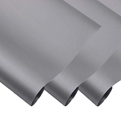Hersvin 30cmx150cmx3 Rollos Plastico Protector para Cocina Cajones, Alfombras Non Adhesivo para Nevera Mueble Fregadero Estante Organizador Cubiertos Cubre Encimera(Gris Diamante)