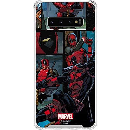 Skinit Clear Phone Case for Galaxy S10 Plus - Officially Licensed Marvel/Disney Deadpool Comic Design