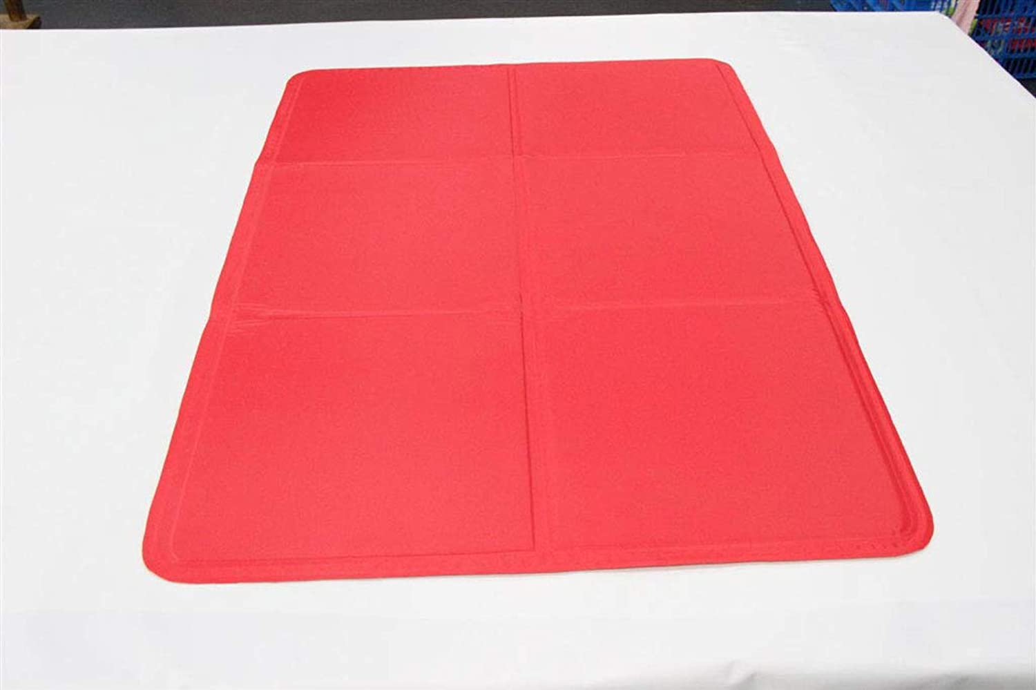 GR&ST Pets Cool Mat Dogs Self Cooling NonToxic Gel Mat Pads Mattress Pet Cat Cool Beds Extra Large for Dog,Kennels and Beds,Red 60  90CM