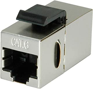Value RJ-45 Keystone Modular Coupler, Cat.6, shielded