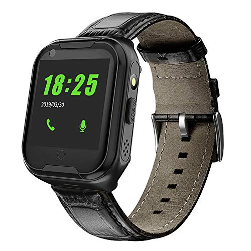 YUNYUE GPS Tracker Smart Watch for Elderly, 4G SOS Voice Chat GPS Tracker Watch for Adults Heart Rate Blood Pressure Monitoring Fitness Activity GPS Tracker for Bracelet Waterproof