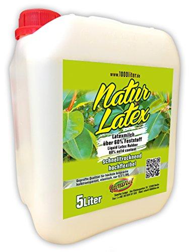 Flüssiglatex natur 5 Liter Kanister Maskenbildner Basteln Latexmilch Latex