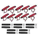 Luz de Marcador Lateral del Coche, 10 unids/Set Lámpara indicadora de Advertencia de señal de luz de Marcador Lateral de camión con 6 LED 12V(Rojo)