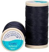 Coats Nylbond Sewing & Beading Thread (Bonded Nylon) For jeans, leather, elasticated fabrics & jewellery making - Navy Blue 9507