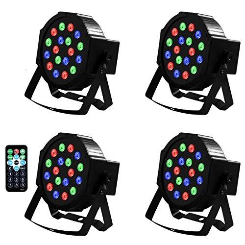 Juego de luces LED DMX con 18 luces LED para discoteca, juego de luz, 18 control, sonido/música, proyector, lámpara de discoteca, para cumpleaños, boda