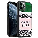 TPU Case for iPhone 11 Pro Max Lightweight Printed Protection Cover Case Chill Pills Customized Design Skin Cover iPhone 11 Pro Max