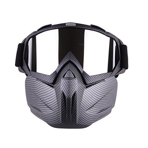 TOBY Tactical Mask Soft Bullet Darts Máscara Protectora de Espejo para Nerf