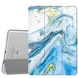 """MoKo Cover compatibile con iPad Air 2, Ultra Sottile Leggero Custodia in Tri-fold Auto Sveglia/Sonno con Retro Semi-trasparente Rigido compatibile con iPad Air 2 9.7"""" Tablet - Sabbie Mobili Blu"""