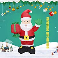 1.35Mインフレータブルクリスマス老人ギフトパッケージパーティー装飾のための屋外屋内家族プロップレッド