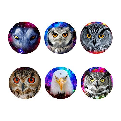 Showudesigns Dessous de verre ronds absorbants Galaxy Owl