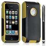 Access-Discount - Funda con tapa para Apple iPhone 3G/3GS, color amarillo