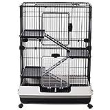 "PawHut 43""L 4-Level Indoor Small Animal Cage Rabbit..."