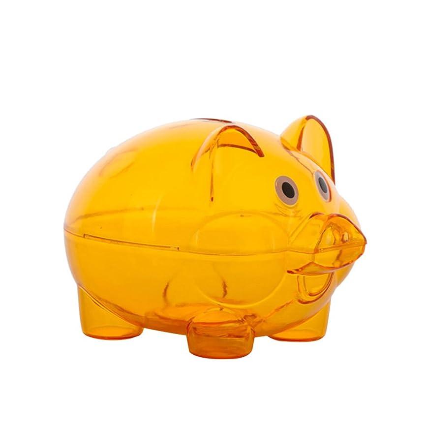 刈るアルファベット順弾薬TrentonクリアプラスチックLovely Piggy Coin Cash Money Saving Bank、ボンネット、子供ギフト One size オレンジ D7E60613844GY