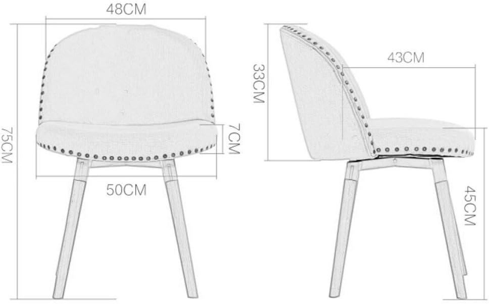 TYUIO Chaises de Salle à Manger Cuisine, Assembler Les 4 en 5 Minutes, chaises latérales à Coussins en Tissu avec Pieds en Bois Robustes pour Salon Cuisine (Color : H) I