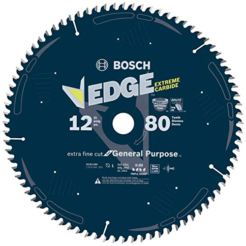 Bosch DCB1280 Daredevil 12-Inch 80-Tooth Extra-Fine Finish Saw Blade
