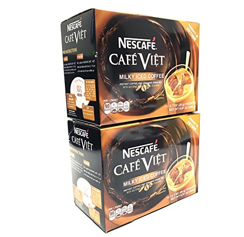 Nescafe Cafe Viet Milky Iced coffee instant coffee & Creamer drink mix - 14 Packets/ 9.87oz | 2 Packs
