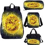 Galaxy 15 pulgadas Kids School Bookbags Set, Galaxy Space Panorama 4 en 1 conjuntos de mochila