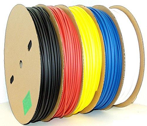 Schrumpfschlauch lfd. Meterware Auswahl aus 10 Größen 5 Farben (hier: Ø 8mm, schwarz)