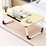 Foldable Bed Tray Lap Desk, Portable Lap Desk with Phone Slots Notebook Table Dorm Desk, Small Desk Folding...