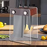 6 Slot Kitchen Knife Holder Without Knives With Acrylic Stand Wood Universal Knife Block Wood Kitchen Knife Holder Storage for Counter