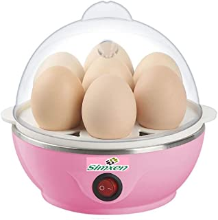 Simxen Egg Boiler Electric Automatic Off 7 Egg Poacher for Steaming, Cooking, Boiling and Frying, Multicolour