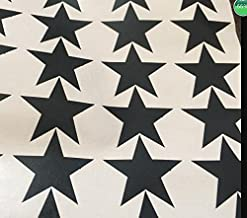 QZT 150Pcs Mixed Size Easy Apply Removable Starry Stars Wall Stickers,KIDS Room Environmental-Friendly Decor Decal,M2S1 Black