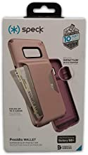 Speck Products Compatible Phone Case for Samsung Galaxy S8+, Presidio Wallet Case, Clay Pink/Plumberry Purple