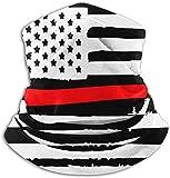Haloxa Axe-headed American Flag Fleece Neck Warmer Windproof Mask Circle Loop Scarves Ear Warmer Headband