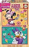 Educa - Minnie Happy Helpers 2 Puzzles Infantiles de Madera ecológica de 16 Piezas,...