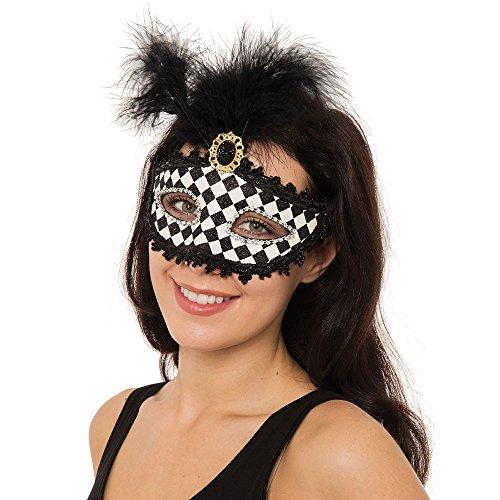 Bristol Novelty EM099 Harlekin Augenmaske, Bunt, Damen, Mehrfarbig, Einheitsgröße