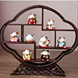 SCRT Artesanías Porcelana afortunada del Gato de Maneki Neko Feng Shui Gatos Set Regalo