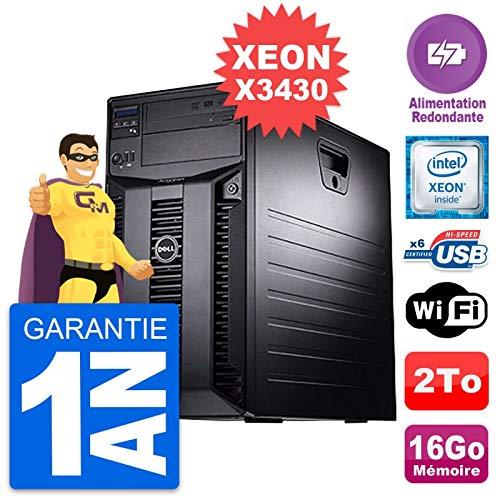 Dell - Servidor PowerEdge T310 Intel X3430 RAM 16 GB, 2 TB, alimentación reacondicionada