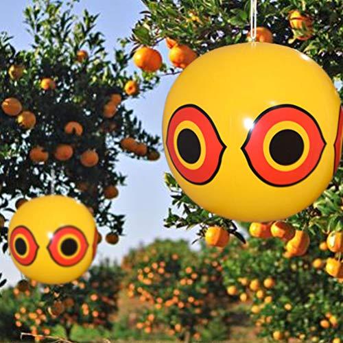 Huemny Schädlingsbekämpfer Terror-Eyes Aufblasbarer Vogelschreck Ballon Vogelabwehr Raubtieraugen Ballon