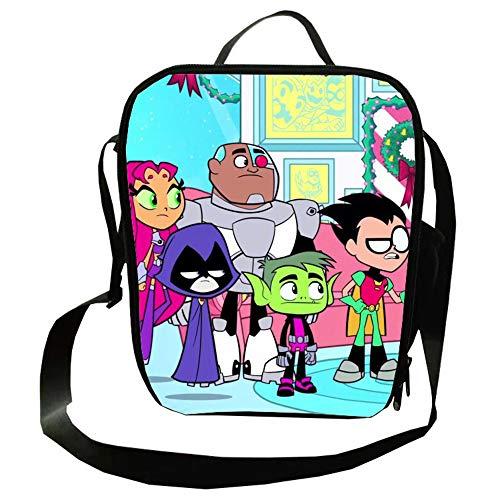 Teen Titans Go Mochila Casual Animado Hombro Crossbody Bolsa de Viaje